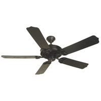 Outdoor Patio 52 inch Flat Black Outdoor Ceiling Fan With Blades Included in White, Outdoor Standard, Light Kit Sold Separately