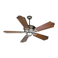 Craftmade K10182 Riata 56 inch Aged Bronze Textured with Classic Ebony Blades Ceiling Fan Kit in Light Kit Sold Separately, Custom Carved, Blades Included