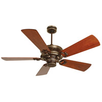 Craftmade K10214 Woodward 54 inch Dark Coffee and Vintage Madera with Hand-Scraped Cherry Blades Ceiling Fan Kit in Light Kit Sold Separately, Premier Hand-Scraped Cherry