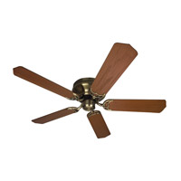 Craftmade K10223 Pro Contemporary Flushmount 52 inch Antique Brass with Dark Oak Blades Ceiling Fan With Blades Included in Light Kit Sold Separately