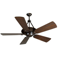 Craftmade K10227 Metro 54 inch Oiled Bronze with Hand-Scraped Walnut Blades Ceiling Fan Kit in Premier Hand-Scraped Walnut