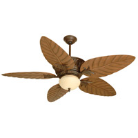 Pavilion 52 inch Aged Bronze Textured with Light Oak Blades Ceiling Fan With Blades Included in ABS Blades, Outdoor Tropic