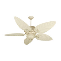 Pavilion 54 inch Antique White Distressed with Antique White Blades Outdoor Ceiling Fan Kit, Blades Included