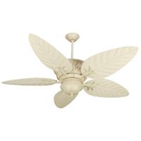 Pavilion 54 inch Antique White Distressed with Outdoor Standard Antique White Blades Outdoor Ceiling Fan Kit in Tropic Isle Outdoor Antique White