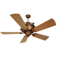 Craftmade K10260 Toscana 54 inch Peruvian Bronze with Hand-Scraped Teak Blades Ceiling Fan Kit in Light Kit Sold Separately, Premier, Solid Wood Blades, Blades Included