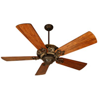 Craftmade K10273 Ophelia 54 inch Aged Bronze and Vintage Madera with Hand-Scraped Teak Blades Ceiling Fan Kit in Light Kit Sold Separately, Premier, 0, Solid Wood Blades, Blades Included