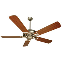 Craftmade K10288 Civic 52 inch Brushed Satin Nickel with Walnut Blades Ceiling Fan Kit in MDF Blades, Contractor Plus, 0, Light Kit Sold Separately, Blades Included