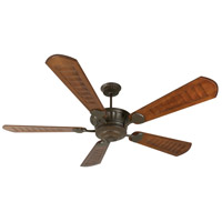 Craftmade K10309 DC Epic 70 inch Aged Bronze Textured with Scalloped Walnut Blades Ceiling Fan Kit in Light Kit Sold Separately, Custom Carved, Blades Included