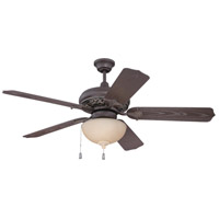 Craftmade K10335 Mia 52 inch Aged Bronze and Vintage Madera with Brown Blades Outdoor Ceiling Fan Kit in ABS Blades Outdoor Standard Blades Included