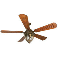Craftmade K10338 Olivier 70 inch Aged Bronze Textured with Scalloped Walnut Blades Ceiling Fan Kit in Custom Carved Scalloped Walnut