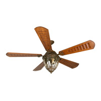 Craftmade K10338 Olivier 70 inch Aged Bronze Textured with Scalloped Walnut Blades Ceiling Fan Kit in Custom Carved, Blades Included
