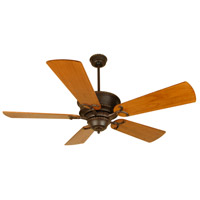 Craftmade K10349 Riata 54 inch Aged Bronze Textured with Distressed Teak Blades Ceiling Fan Kit in Light Kit Sold Separately, Premier, Blades Included