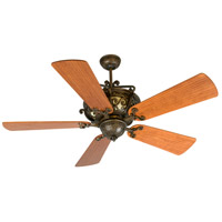 Toscana 52 inch Peruvian Bronze with Hand-Scraped Cherry Blades Ceiling Fan With Blades Included in Solid Wood Blades, Premier, Light Kit Sold Separately
