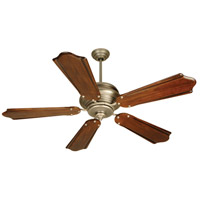Craftmade K10362 Townsend 56 inch Antique Nickel with Classic Ebony Blades Ceiling Fan Kit in Light Kit Sold Separately, Custom Carved, Pewter, 0, Blades Included