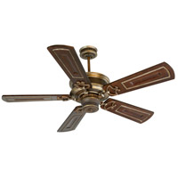 Woodward 52 inch Dark Coffee and Vintage Madera with Walnut/Vintage Madera Blades Ceiling Fan With Blades Included in Solid Wood Blades, Custom Carved, Light Kit Sold Separately