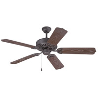 Outdoor Patio 52 inch Brown Outdoor Ceiling Fan With Blades Included in Outdoor Standard, Light Kit Sold Separately