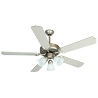 Craftmade K10422 Pro Builder 205 52 inch Brushed Satin Nickel with Brushed Nickel Blades Ceiling Fan Kit in Contractor Brushed Nickel, Blades Included