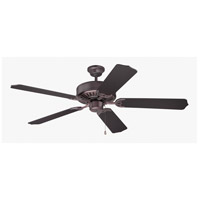 Pro Builder 52 inch Oiled Bronze Ceiling Fan With Blades Included in Contractor Standard