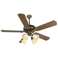 Patio 52 inch Brown Outdoor Ceiling Fan Kit in Outdoor Standard, Alabaster Swirl Glass, Blades Included