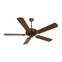 Craftmade K10435 Pro Builder 52 inch Aged Bronze Textured with Aged Bronze Blades Ceiling Fan Kit in Contractor Aged Bronze Blades Included