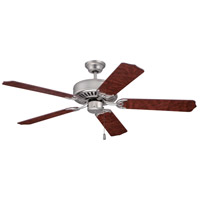 Craftmade K10436 Pro Builder 52 inch Brushed Satin Nickel with Rosewood Blades Ceiling Fan Kit in Contractor Rosewood