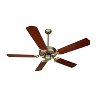 Craftmade K10436 Pro Builder 52 inch Brushed Satin Nickel with Rosewood Blades Ceiling Fan Kit in Contractor Standard, Blades Included
