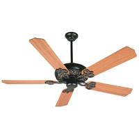 Cecilia 52 inch Oiled Bronze Gilded with Teak Blades Ceiling Fan With Blades Included in Contractor Standard