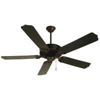 "Craftmade K10442 Porch 44 inch Oiled Bronze with Brown Blades Outdoor Ceiling Fan Kit in 54"" Light Kit Sold Separately Outdoor Standard Brown"