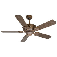 Craftmade K10512 Chaparral 52 inch Aged Bronze Textured with Brown Blades Outdoor Ceiling Fan Kit in Light Kit Sold Separately, Outdoor Standard Brown