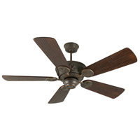 Chaparral 52 inch Aged Bronze Textured with Hand-Scraped Walnut Blades Ceiling Fan With Blades Included in Solid Wood Blades, Premier, Light Kit Sold Separately