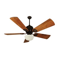 Kona Bay 52 inch Oiled Bronze with Hand-Scraped Teak Blades Ceiling Fan With Blades Included in Solid Wood Blades, Premier, 0, Alabaster Swirl Glass