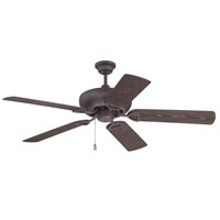 Craftmade K10519 Leeward 52 inch Oiled Bronze Gilded with Brown Blades Outdoor Ceiling Fan Kit in Light Kit Sold Separately, Outdoor Plus Brown