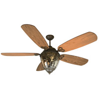 Olivier 70 inch Aged Bronze Textured with Dark Oak Blades Ceiling Fan With Blades Included in Epic Dark Oak, Epic