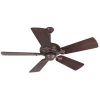 Outdoor Mia 52 inch Aged Bronze/Vintage Madera with Hand-Scraped Walnut Blades Outdoor Ceiling Fan With Blades Included in Solid Wood Blades, Premier