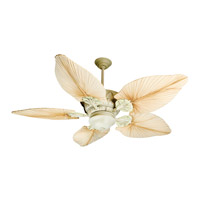 Craftmade Pavilion 2 Light Ceiling Fan With Blades Included in Antique White Distressed K10530