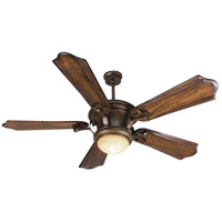 Craftmade Amphora 1 Light Ceiling Fan With Blades Included in Peruvian Bronze K10600