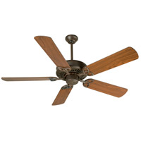 Craftmade K10601 American Tradition 52 inch Aged Bronze Textured with Walnut Blades Ceiling Fan Kit in Light Kit Sold Separately Plus Walnut