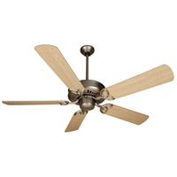 Craftmade K10602 American Tradition 52 inch Brushed Satin Nickel with Maple Blades Ceiling Fan Kit in MDF Blades, Contractor Plus, 0, Light Kit Sold Separately, Blades Included