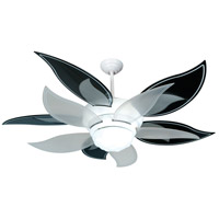 Craftmade K10612 Bloom 52 inch White with Black and Silver and Translucent Blades Ceiling Fan Kit in Black/Silver and Translucent, ABS Blades, Blades Included