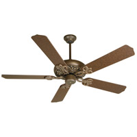 Craftmade K10614 Cecilia 52 inch Aged Bronze Textured with Aged Bronze Blades Ceiling Fan Kit in Contractor Standard, Blades Included