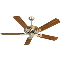 Cecilia 52 inch Brushed Satin Nickel with Walnut Blades Ceiling Fan Kit in Contractor Standard, Blades Included