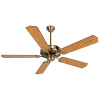 Craftmade K10620 Pro Builder 52 inch Antique Brass with Light Oak Blades Ceiling Fan Kit in Custom Carved Light Oak
