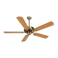 Craftmade K10620 Pro Builder 52 inch Antique Brass with Light Oak Blades Ceiling Fan Kit in Contractor Standard, Blades Included