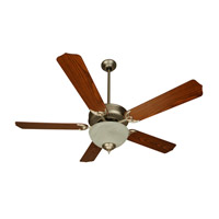 Craftmade K10623 Pro Builder 201 52 inch Brushed Satin Nickel with Dark Oak Blades Ceiling Fan Kit in Custom Carved Dark Oak Blades Included