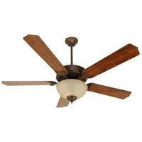 Craftmade K10626 Pro Builder 202 52 inch Aged Bronze Textured with Walnut Blades Ceiling Fan Kit in Contractor Walnut