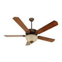 Craftmade K10626 Pro Builder 202 52 inch Aged Bronze Textured with Walnut Blades Ceiling Fan Kit in Contractor Standard, Blades Included