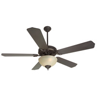 Craftmade K11073 Pro Builder 202 52 inch Oiled Bronze with Walnut Blades Ceiling Fan With Blades Included in Contractor Plus Walnut