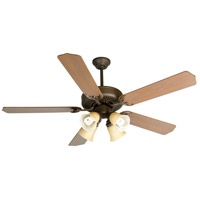 Craftmade K10633 Pro Builder 204 52 inch Aged Bronze Textured with Washed Walnut Birch Blades Ceiling Fan Kit in Contractor Plus Washed Walnut Birch