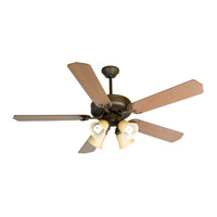 Craftmade K10633 Pro Builder 204 52 inch Aged Bronze Textured with Washed Walnut Birch Blades Ceiling Fan Kit in Contractor Standard, Blades Included