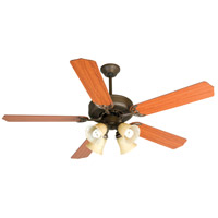 Craftmade K10634 Pro Builder 204 52 inch Aged Bronze Textured with Cherry Blades Ceiling Fan Kit in Contractor Cherry